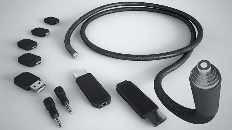 Illustration for article titled A Single Cable With Swappable Connectors Wants To Replace All Your Wires