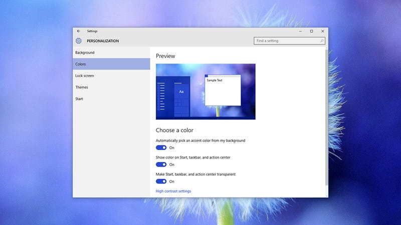 Outstanding How To Make Windows 10 Change Colour To Match Your Desktop Home Interior And Landscaping Ymoonbapapsignezvosmurscom