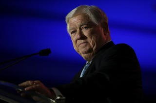 Former Mississippi Gov. Haley Barbour speaks during the 2014 Republican Leadership Conference on May 30, 2014, in New Orleans.Justin Sullivan/Getty Images