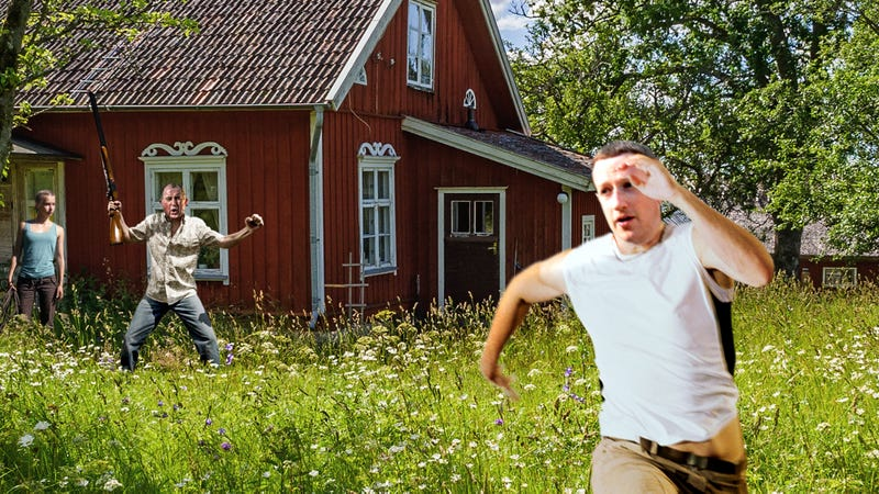 Illustration for article titled Privacy Scandal: Mark Zuckerberg Is Being Chased By A Shotgun-Toting Farmer After Ignoring The Old Man's Rule Not To Collect His Beautiful Daughter's Personal Data