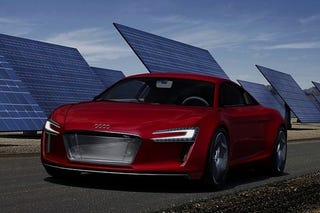 Illustration for article titled Audi R8 e-Tron Concept Is Not An Electric Lightcycle