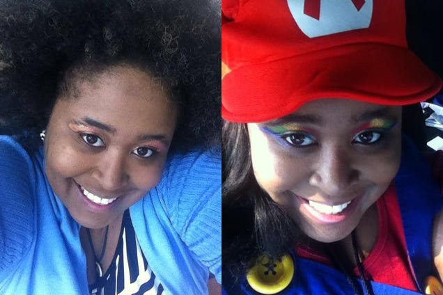 Me out of cosplay and in cosplay (Courtesy of Briana Lawrence)