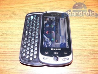 Illustration for article titled Samsung's Android InstinctQ For Sprint Spotted In Leaked Pics
