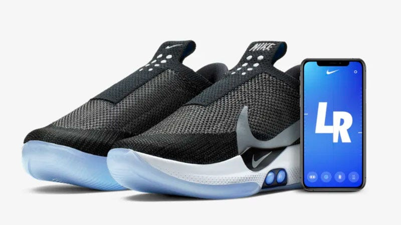 hot sale online 1705c fb185 You can adjust Nike Adapt BB sneakers through a smart phone app. Or, you