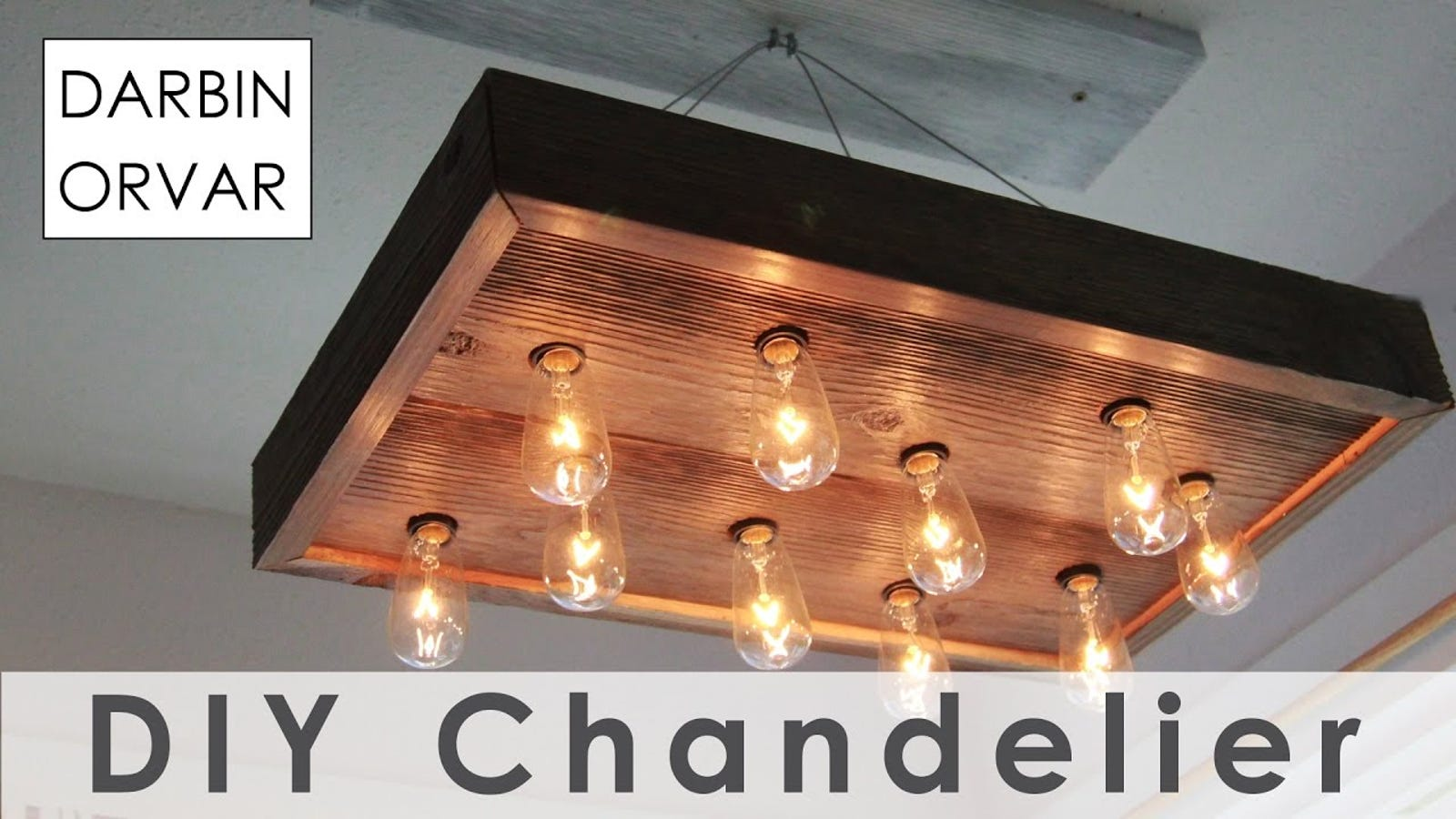 how to build your own chandelier