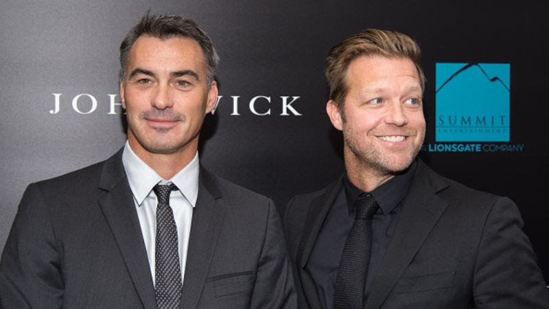 David Leitch's on the right, next to his John Wick co-director Chad Stahelski (Photo: Mike Pont/Getty Images)