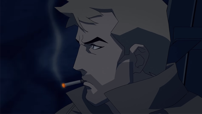Constantine is here to kick demon ass and smoke cigs, and he's...actually still smoking one, so give him a second, will you?