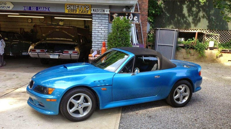 Illustration for article titled This GM Powered BMW Z3 Is Actually A Miata