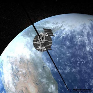 Illustration for article titled Japanese Scientists Plan to Build Space Elevator