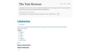 Illustration for article titled Text Browser Is a Google Script Powered Way to Browse the Web with Only Text