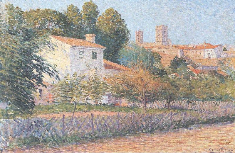 Vue d'Elne, por Étienne Terrus.