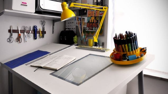 turn desk into drafting table 2