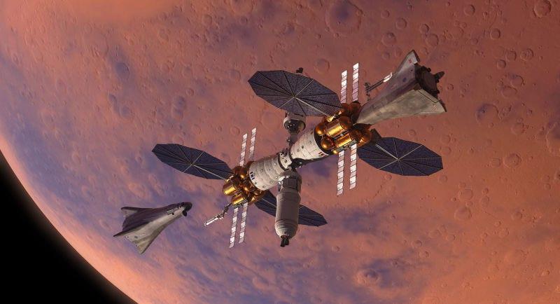 Diseño de estación orbital para Marte.