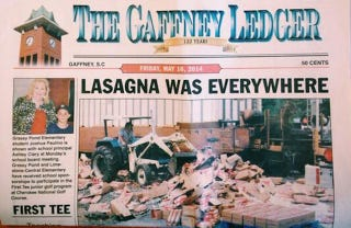Illustration for article titled Lasagna Disaster Inspires Incredible Headline