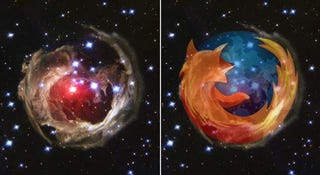 Illustration for article titled Even Gigantic Celestial Bodies Prefer Firefox to IE