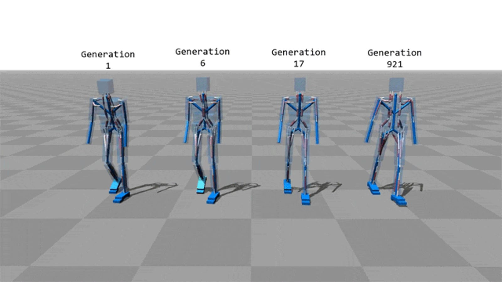 Even computer simulations have trouble with walking sometimes