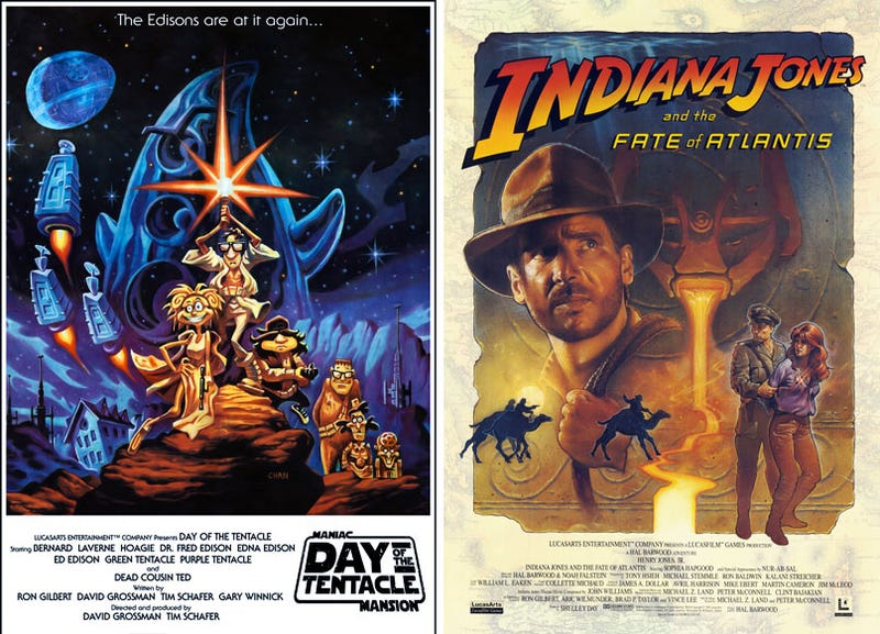 Illustration for article titled Lucasarts Classics Reborn As Lucasfilm Movie Posters