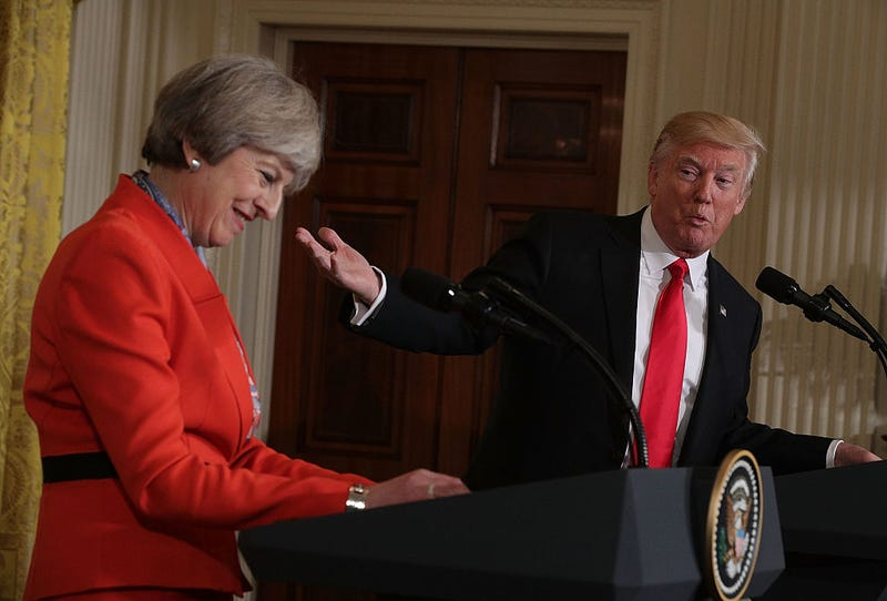 British Prime Minister Theresa May and President Donald Trump (Alex Wong/Getty Images)