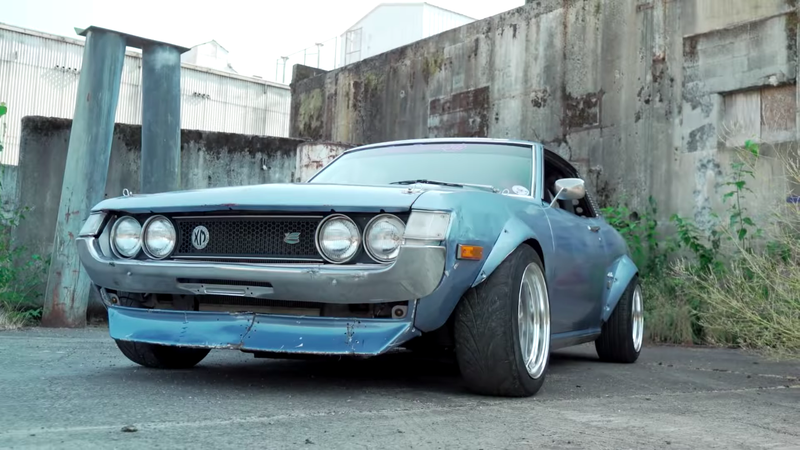 Illustration for article titled America's Coolest Drift Car Is This Engine-Swapped 1973 Toyota Celica