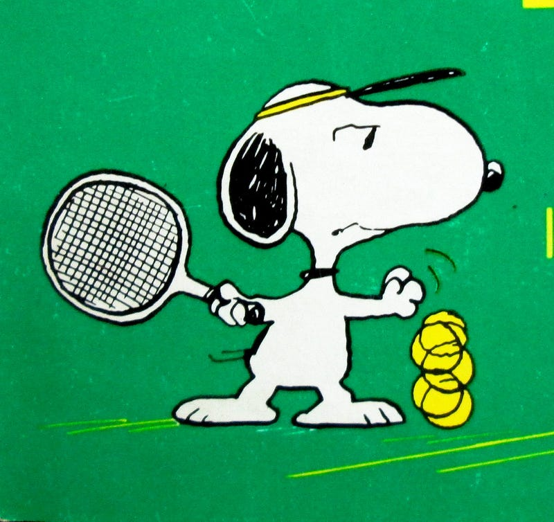 Illustration for article titled Tennis pro collapses after seeing Snoopy