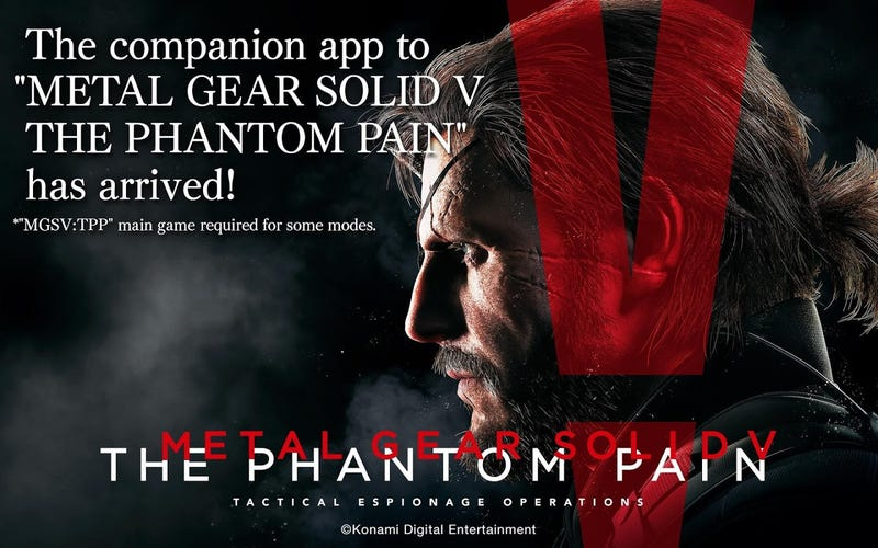 Illustration for article titled Metal Gear Solid V: The Phantom Pain Companion App Now Available for Android and iOS