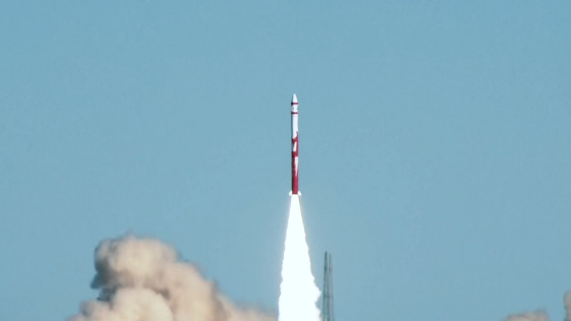 The Zhuque-1 rocket takes off in China, moments before it suffers an unspecified technical failure.