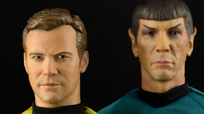 Illustration for article titled These Star Trek Figures Are So Realistic I'd Swear They're Kirk and Spock in the Flesh