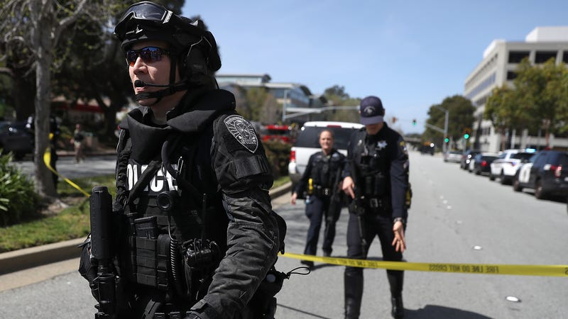 Police respond to a shooting at YouTube's campus in San Bruno, California on April 3rd.