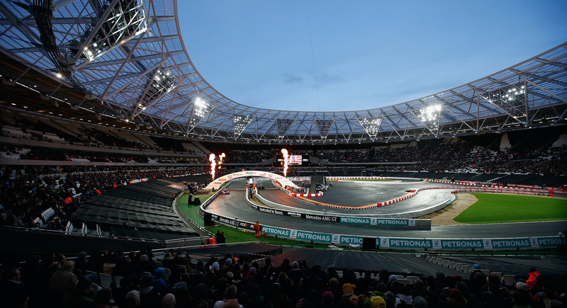 The Race of Champions track set up in London, England in November 2015. Photo credit: Mike Hewitt/Getty Images