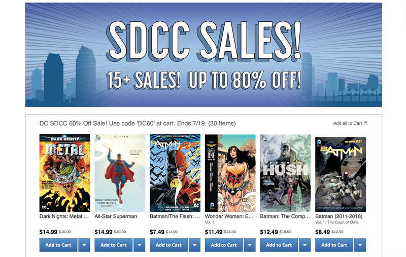 ComiXology SDCC Sales Events | ComiXology