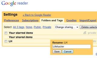 Illustration for article titled Google Reader Introduces Easy Folder and Tag Renaming