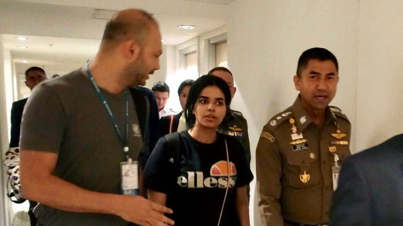 Illustration for article titled Saudi Teen Who Locked Herself in Thai Airport Hotel Room Recognized as Refugee