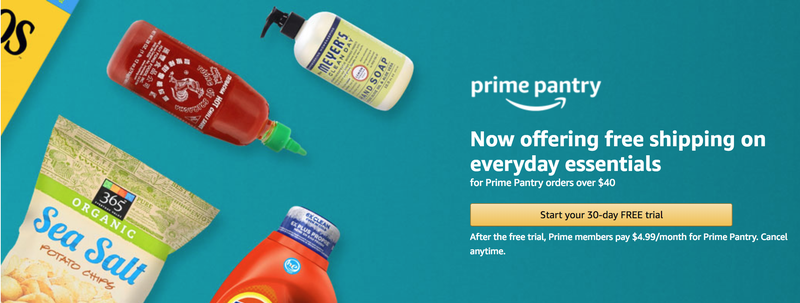$5 Off Your First Prime Pantry Order with Prime Pantry Membership | Amazon | Promo code PANTRY5. Extra $6 off with purchase of five items from this page.