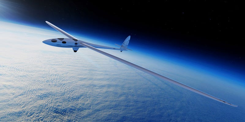 Illustration for article titled This Plane Will Soar to the Edge of Space on Giant Air Currents