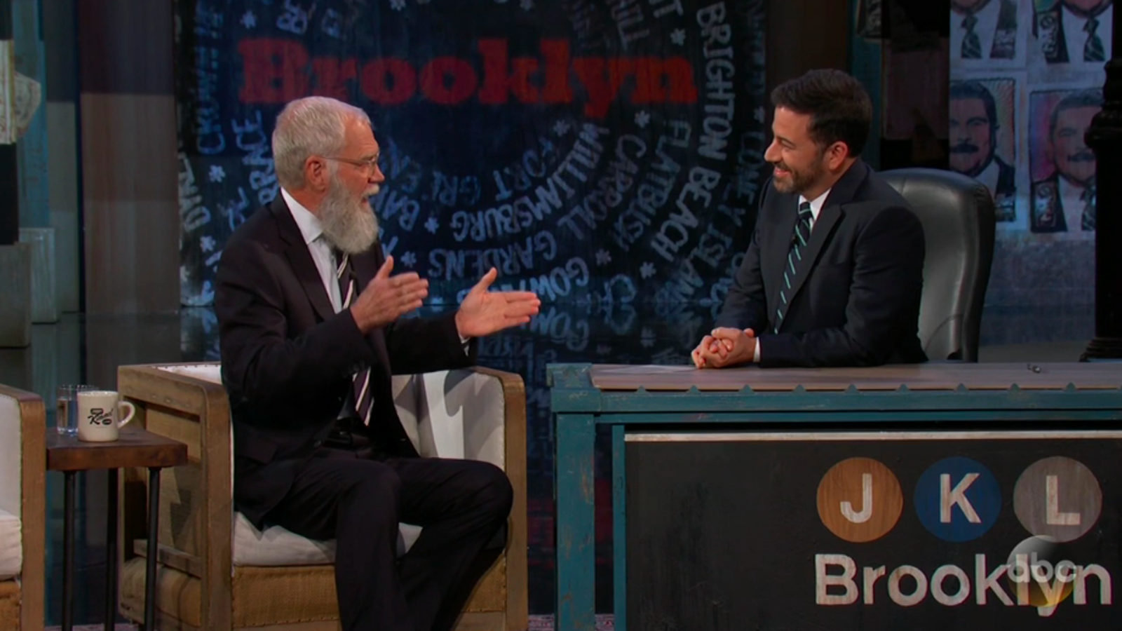 Cantankerous prospector David Letterman emerges on Jimmy Kimmel Live ...