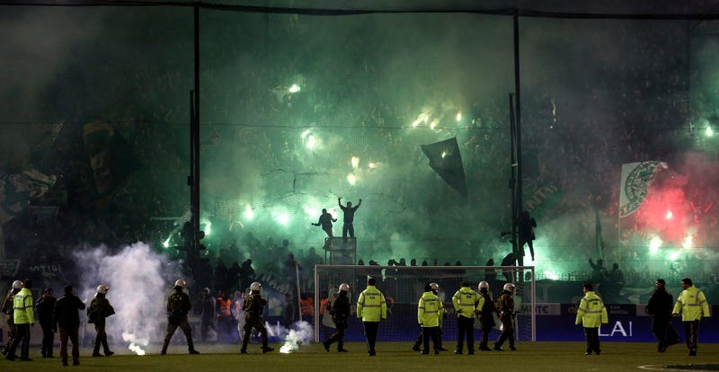 Illustration for article titled Greek Soccer League Game Postponed After Fan Riot