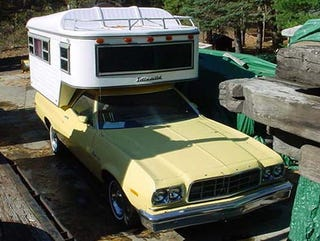Illustration for article titled Nice Price Or Crack Pipe: 1973 Ford Ranchero Camper For $12,500?