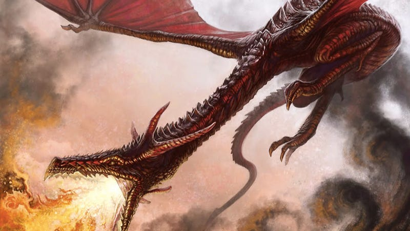 Illustration for article titled A vision of the gigantic, serpentine dragons from Game of Thrones