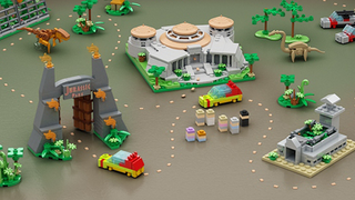 Illustration for article titled Microscale LEGO Jurassic Park Has All The Highlights