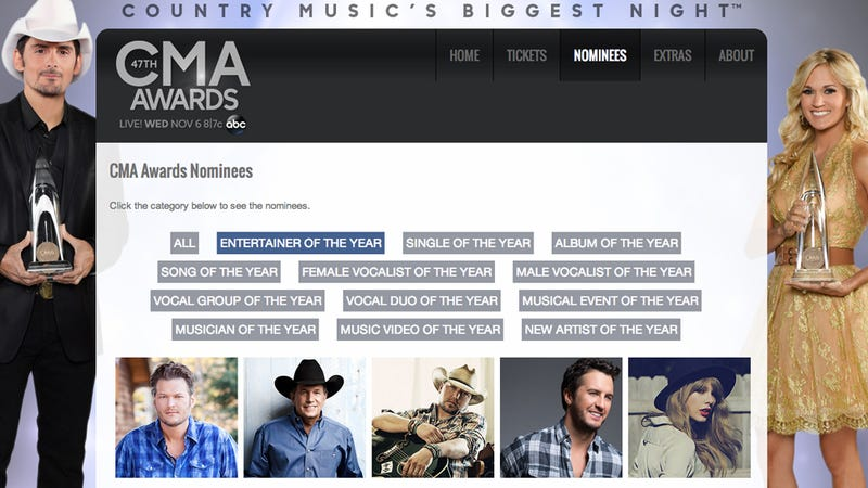 Illustration for article titled Country Music Eager to Give Women Awards, Hesitant To Play Their Songs