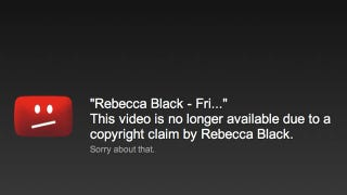 Illustration for article titled Rebecca Black Removes YouTube Video, Totally Ruins Fridays [Update: It's Back!]