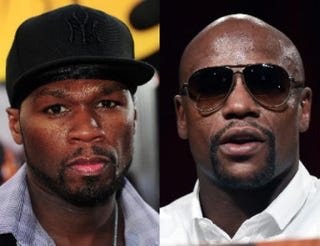 50 Cent; Floyd MayweatherRobyn Beck AFP/Getty Images; Ethan Miller/Getty Images
