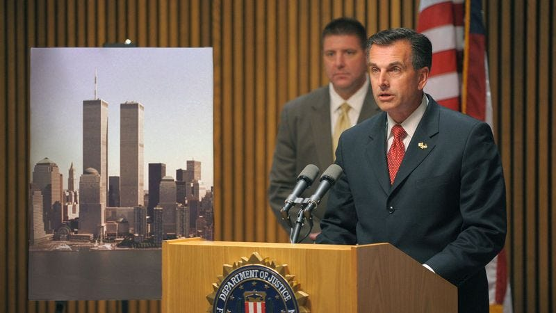 FBI officials say terrorists may be plotting an attack on the World Trade Center building on Sept. 11, 2001.
