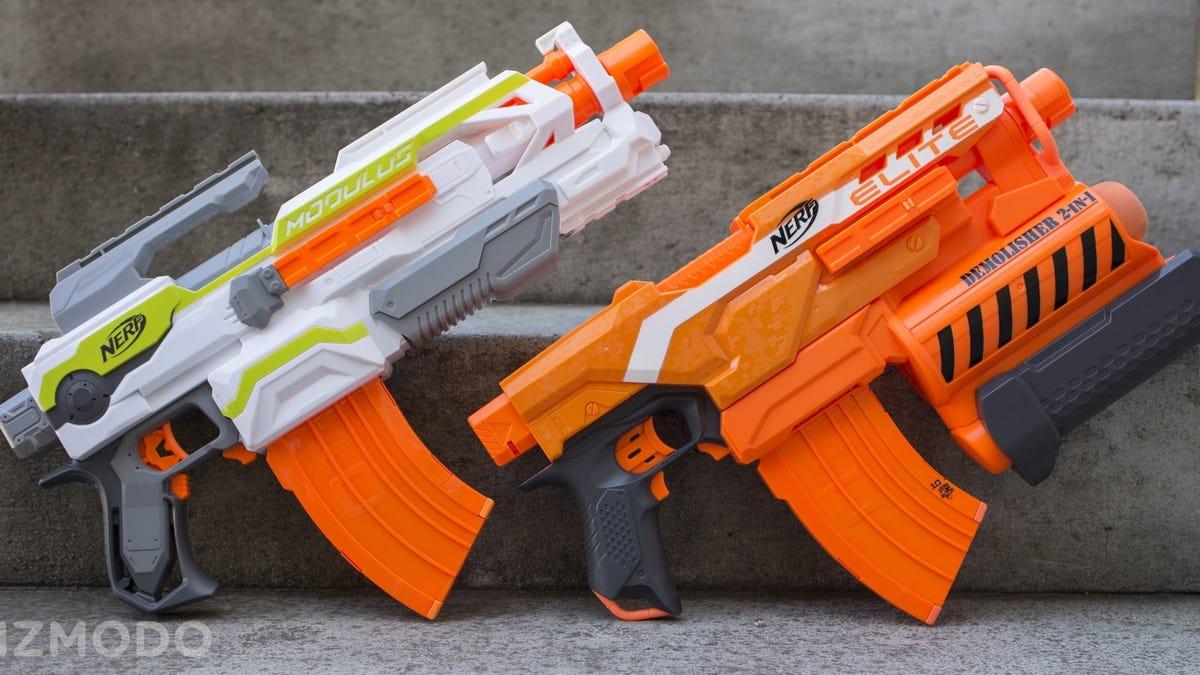 ChildrenHasbroNERFToy Guns · Meet Mastodon, The Biggest Foam Dart-shooting  NERF Blaster Ever