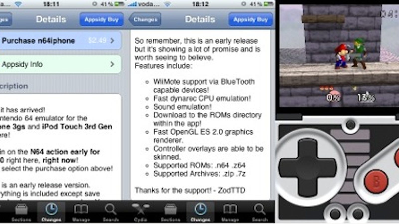 N64 Emulator Hits Jailbroken iPhones, With Bluetooth Wiimote