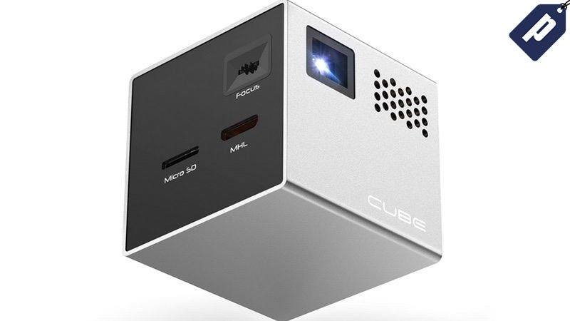 Illustration for article titled Last Chance: Save $70 On The Cube Pico Projector (Free Shipping)