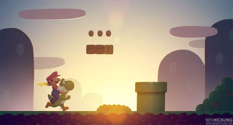 Illustration for article titled The Beauty of a Super Mario World Sunrise