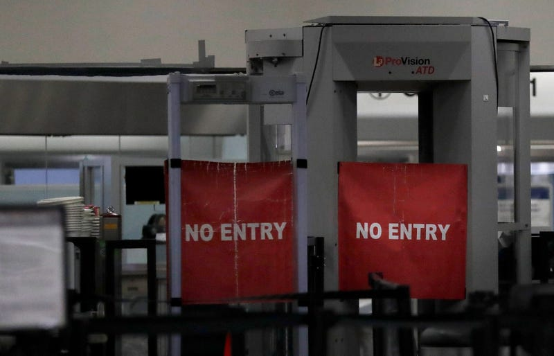 Closed down security terminal at the Miami International Airport from earlier this month