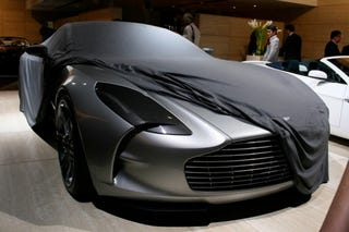 Illustration for article titled The $1.9 Million Aston Martin One-77, Live From Paris