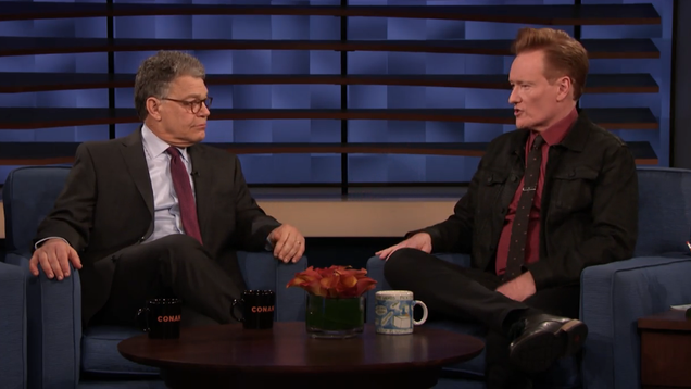 Al Franken's image rehab tour finds a sympathetic ear in Conan O'Brien